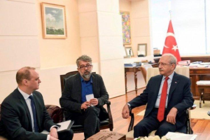 Ululararası Basın Özgürlüğü Heyeti Kılıçdaroğlu'nu ziyaret etti