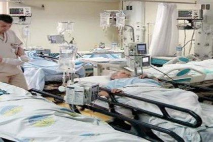 Bir odada 13 hasta