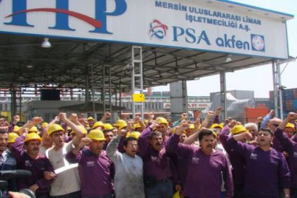 Liman işçileri bayramı direnişle selamladı