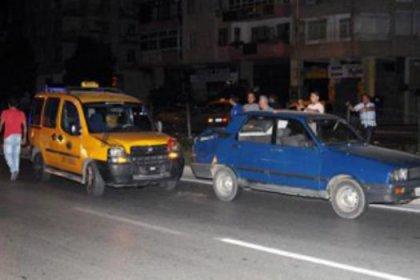 Taksi kaçıran kadın kaza yaptı