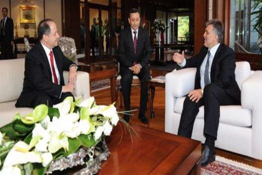Cumhurbaşkanı Gül, Barzani'yi kabul etti