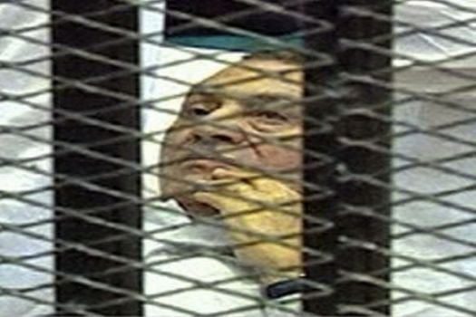 Hüsnü Mübarek'in davasında olay çıktı