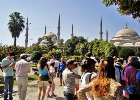 İstanbul'da turist sayısı tavan yaptı