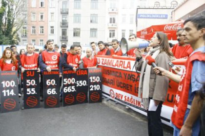 Taşeron işçiler 14 kentte asgari ücret eyleminde
