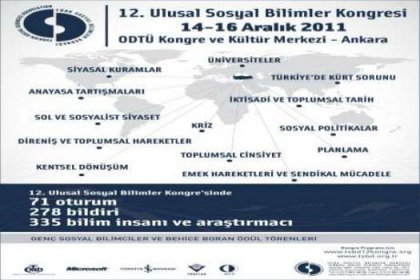 12.Sosyal Bilimler Kongresi ve Behice Boran Ödülleri