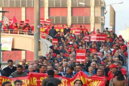 5 bin işçi yürüdü