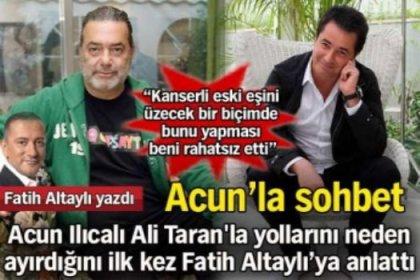 Acun Ilıcalı neden Ali Taran'la yollarını ayırdı?