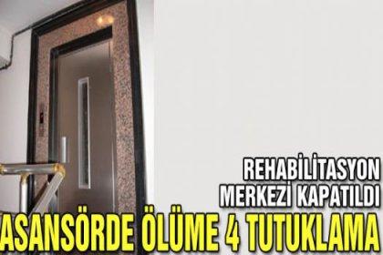 Asansörde ölüme 4 tutuklama