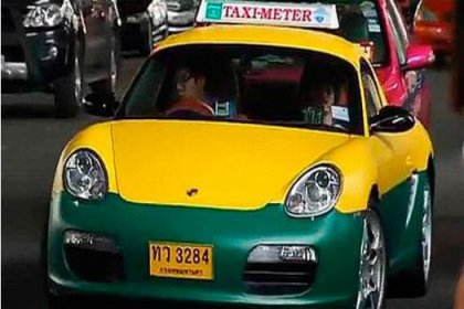 Böyle taksi görmediniz!