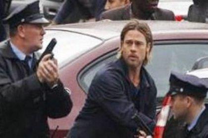 Brad Pitt'in filmine polis baskını
