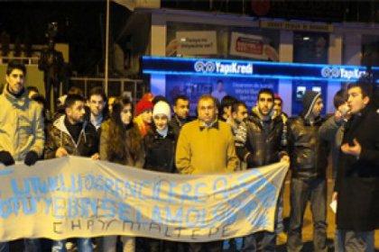 CHP'li gençlerden protesto!