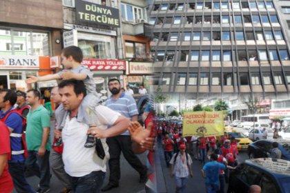 Enerji işçisi DİSK'ten BEDAŞ'a yürüdü