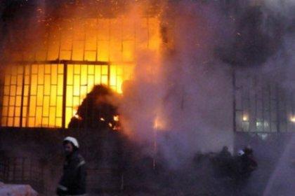 Habipler'de Fabrika Yangını
