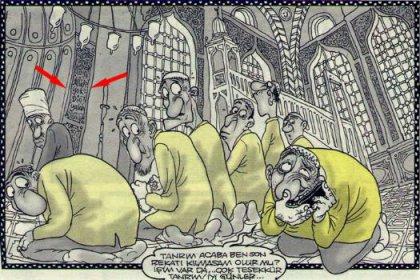Karikatüriste 1 sene hapis!