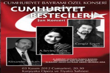 Karşıyaka opera'da Cumhuriyet bestecileri konseri