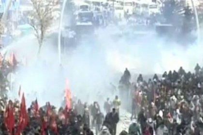 KESK Eylemine Polis Müdahalesi
