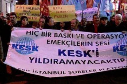 Kesk şubelerinde yapılan aramalara protesto