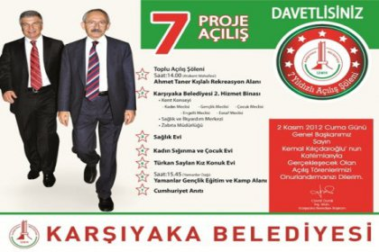 Kılıçdaroğlu'ndan 7 proje açılışı