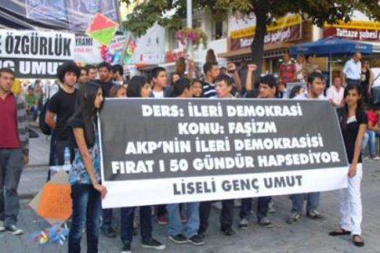 Liseliler Fırat'a özgürlük istedi