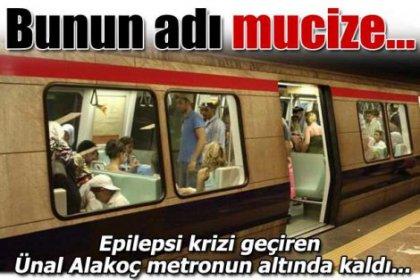 Metronun altından mucize kurtuluş