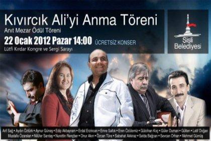 Mustafa Sarıgül Kıvırcık Ali'yi Anıyor