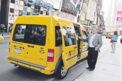 New York'a Türk taksisi