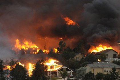 Orman yangını 36 bin kişiyi yerinden etti