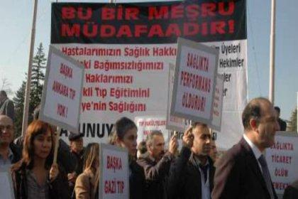 Sağlık emekçilerinin Ankara müdafaası