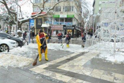 Silivri'de kar çalışması