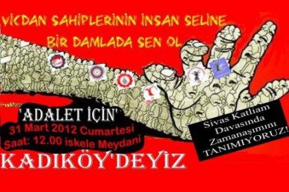 Sivas Katliamı Zamanaşımı Protestoso Kadıköy'de