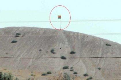 Suriye sınırındaki PKK bayrağı kaldırıldı