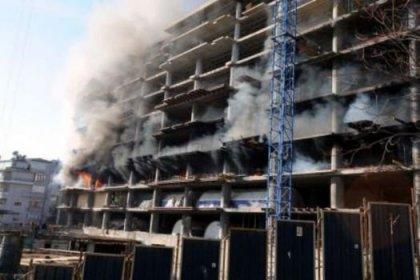 Taksim Park Otel'de yangın