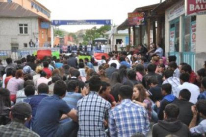 Tunceli'de protesto