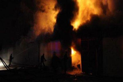 Van'da Yangın Felaketi