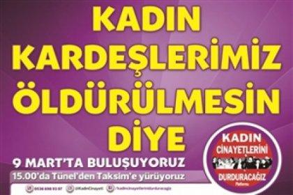9 mart'ta kadınlar Taksim'de olacak