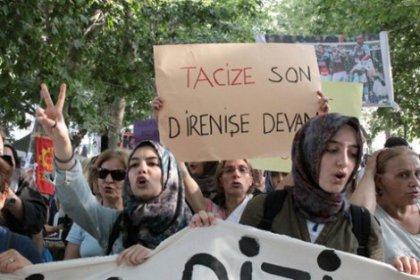 Direnişçilerden başörtülü kadınlara tacize tepki