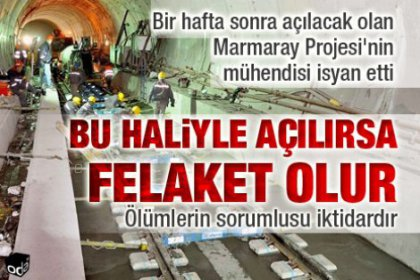 Marmaray aceleye getiriliyor