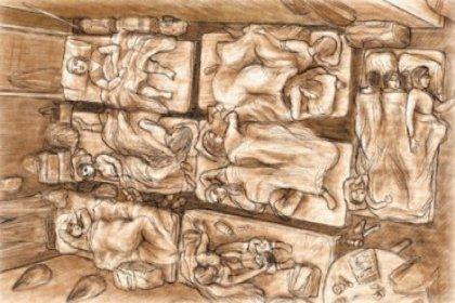 Sığınmaevindeki bir yatakta dört kadın yatıyor!