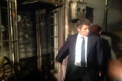 TBB başkanı Feyzioğlu, Gaziantep'te yangın yerinde incelemelerde bulundu