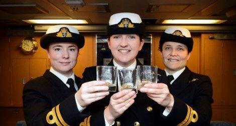 İngiltere donanmasında bir ilk