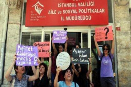 Kadınlar işgal etti: Aileyi koruma cinayetleri engelle