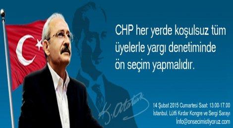 Ön Seçim İsteyenler İstanbul'da Buluşuyor