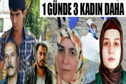 3 kadın cinayeti daha!