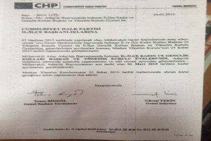 CHP'den Şok İstifa edin genelgesi