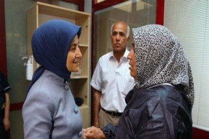 Sare Davutoğlu Mutlu Kaya'yı ziyaret etti