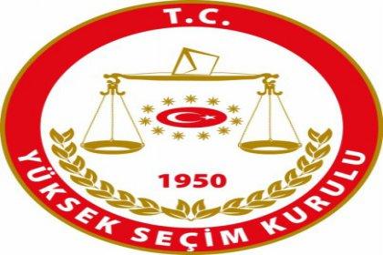 YSK, 2015 Genel Seçimlerine katılacak Partileri açıkladı