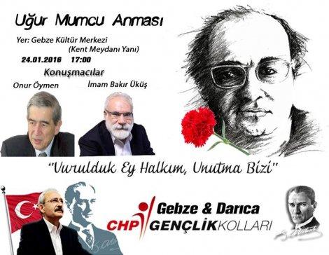 CHP Gebze ve Darıca Gençliğinden Uğur Mumcu Anması