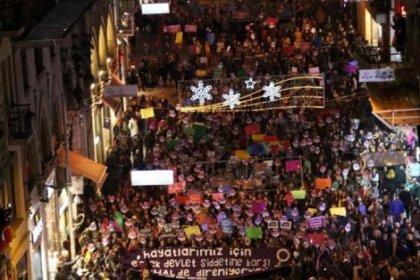 Kadınlar şiddete karşı sokağa çıktı: #herHALdedireniyoruz