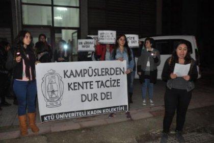 Öğrencilerden el fenerli karanlık protestosu