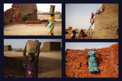 Sudan'da kadın tuğla işçileri
